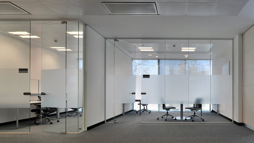 Office Glass Partitions in many textures and designs